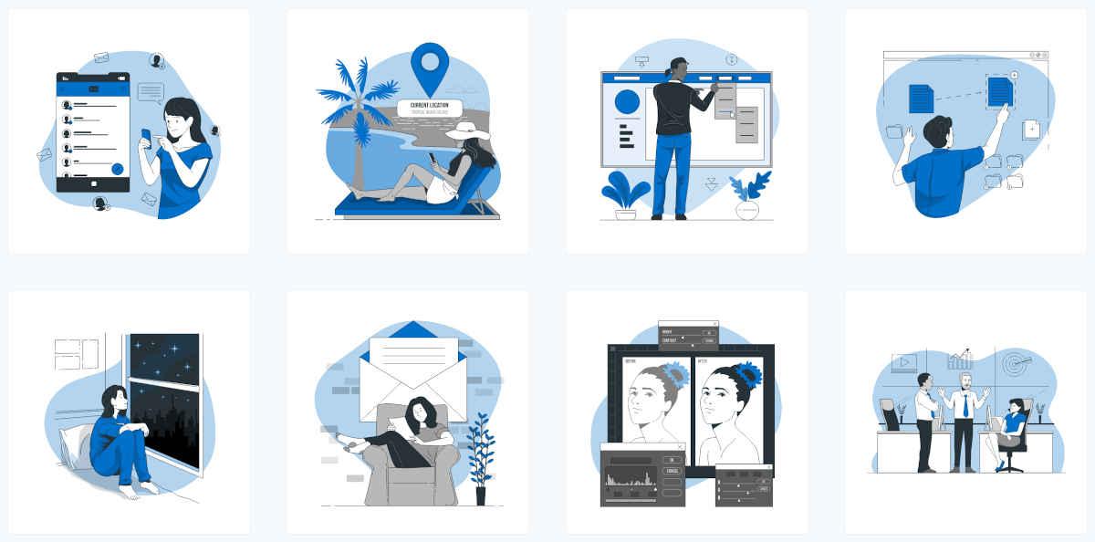 Storyset, una colección de ilustraciones gratuitas y personalizables