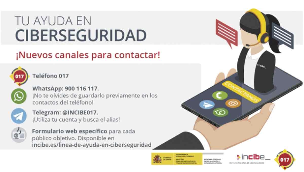 INCIBE expande su servicio de consultas sobre ciberseguridad a WhatsApp y Telegram