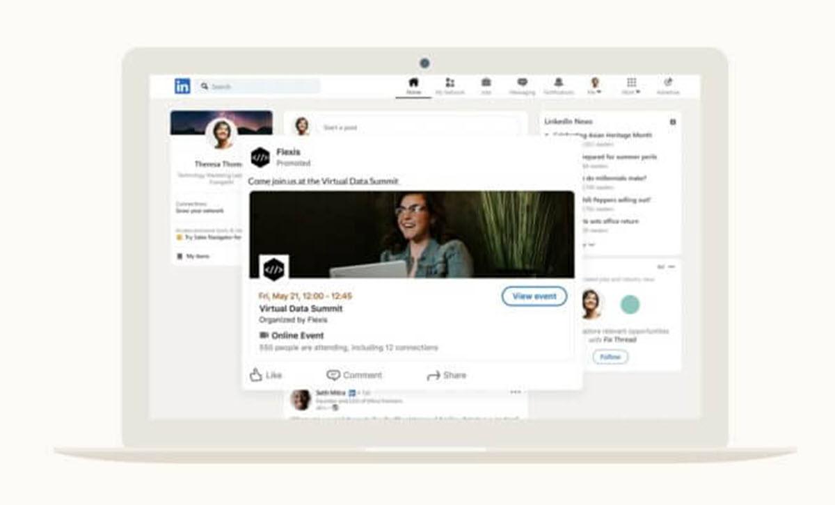 LinkedIn suma nuevas opciones para promocionar eventos online