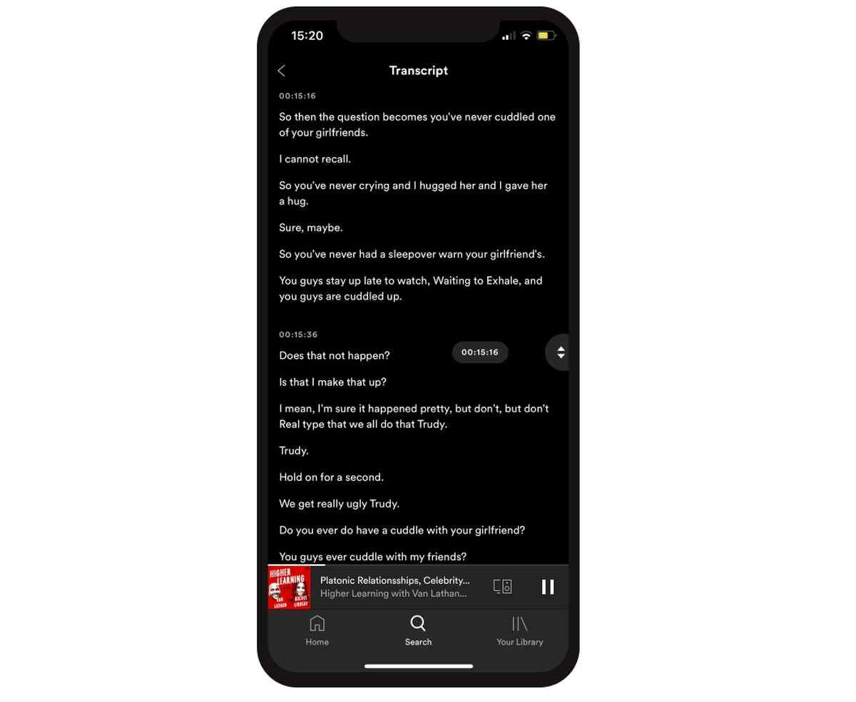 Spotify tendrá su propia función de transcripciones automáticas de podcasts