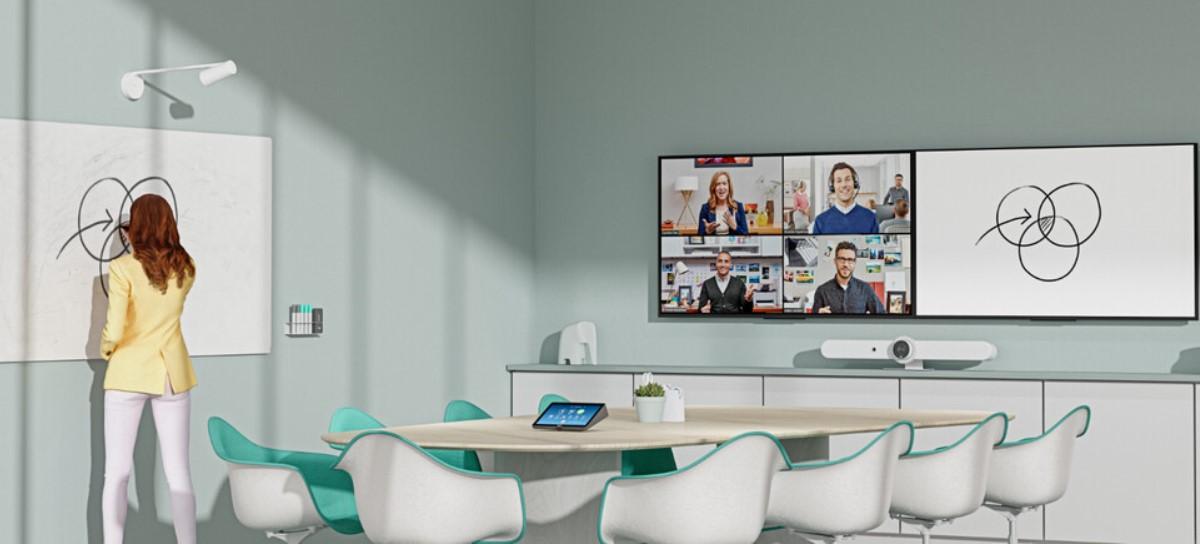 Una webcam especialmente diseñada para enfocar en pizarras