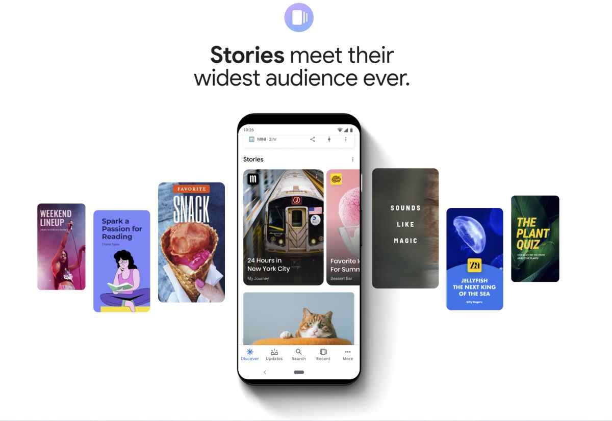 Google trae inspiración para las integraciones de las Web Stories en sitios web
