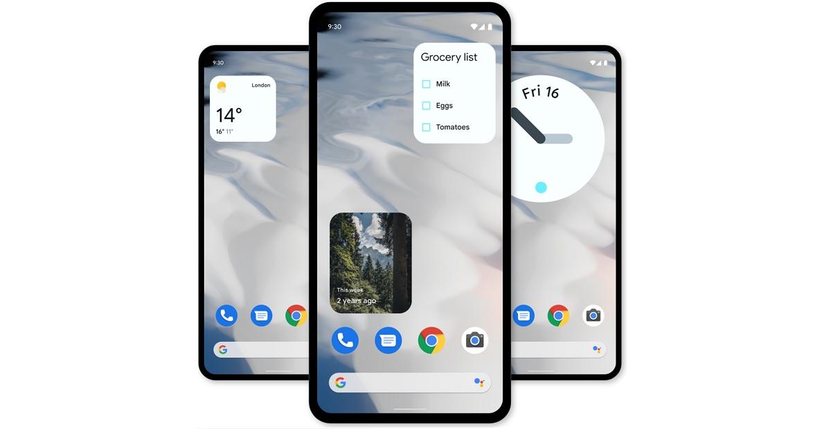 Widgets en Android 12