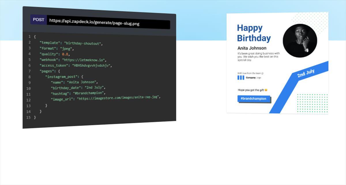 Zapdeck, para crear imágenes personalizadas de forma automática