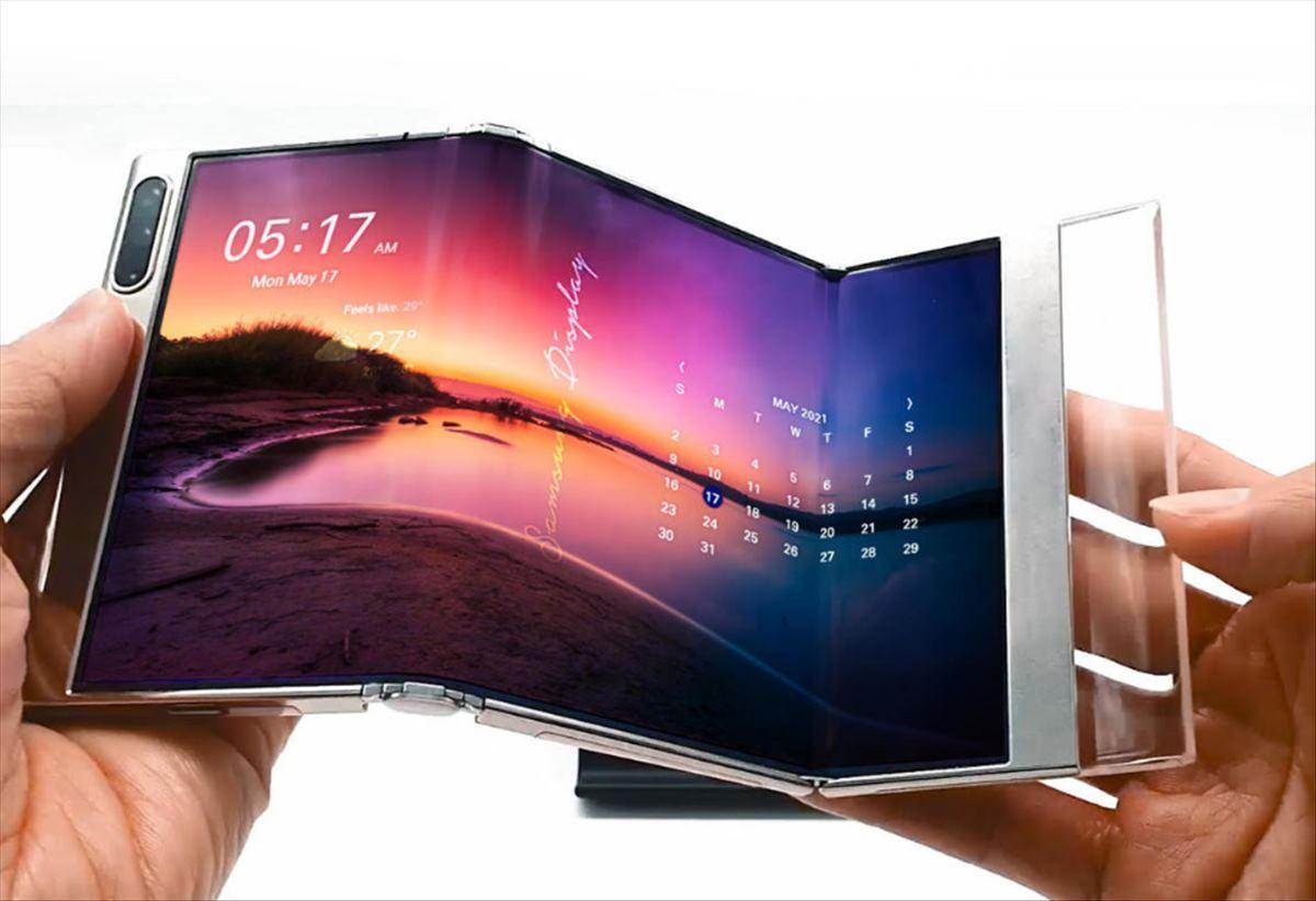 La pantalla de Samsung que se dobla dos veces