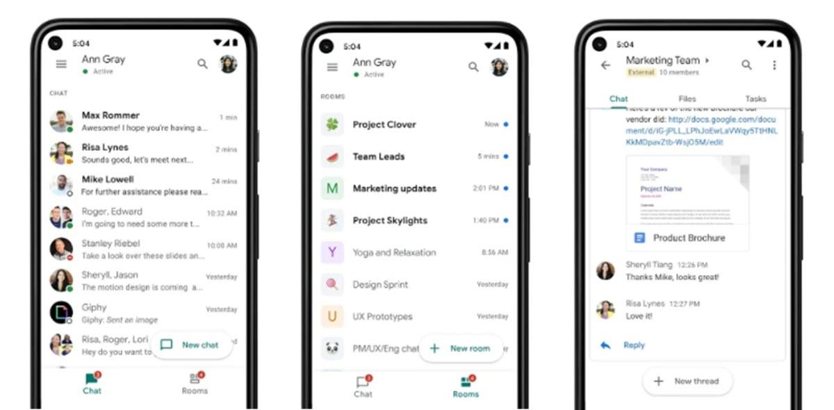 Google Chat tiene nuevas opciones que facilitan la búsqueda en chats antiguos
