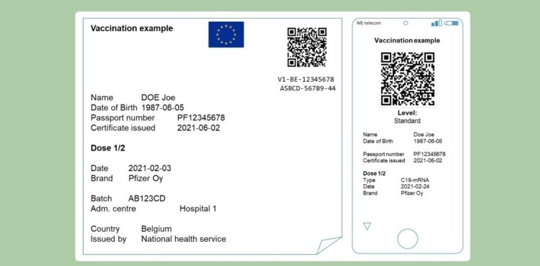 COVID passport request