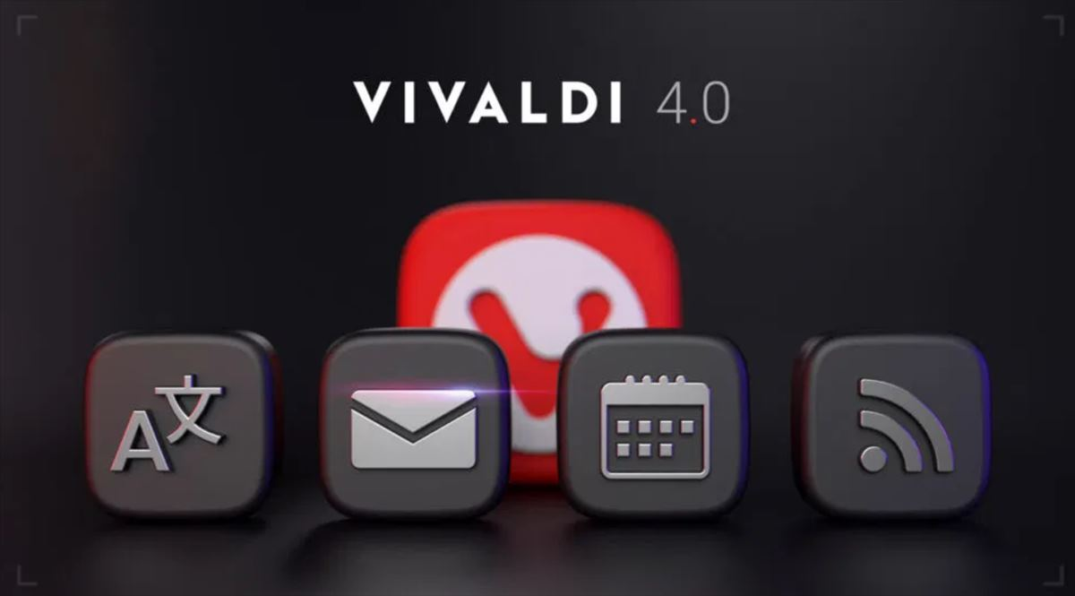 Vivaldi 4.0 tiene ahora cliente de email, calendario y lector de feeds