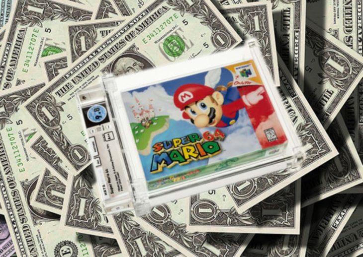 Más de 1 millón de dólares por una copia de Super Mario 64
