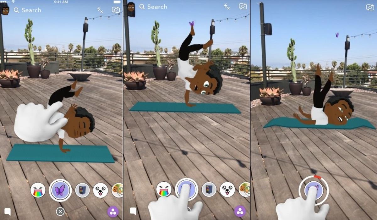 Mejorar el avatar digital en Snapchat con Bitmoji 3D