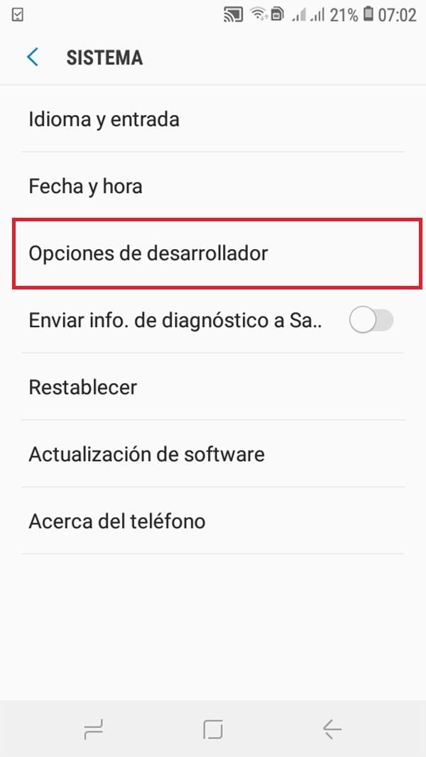 activar modo zurdo en android 4