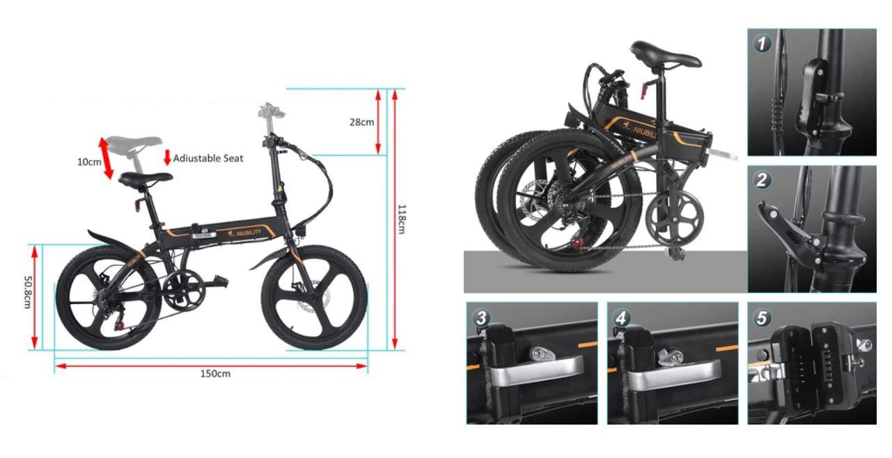 Niubility B20, una impresionante bicicleta eléctrica por menos de 700 euros