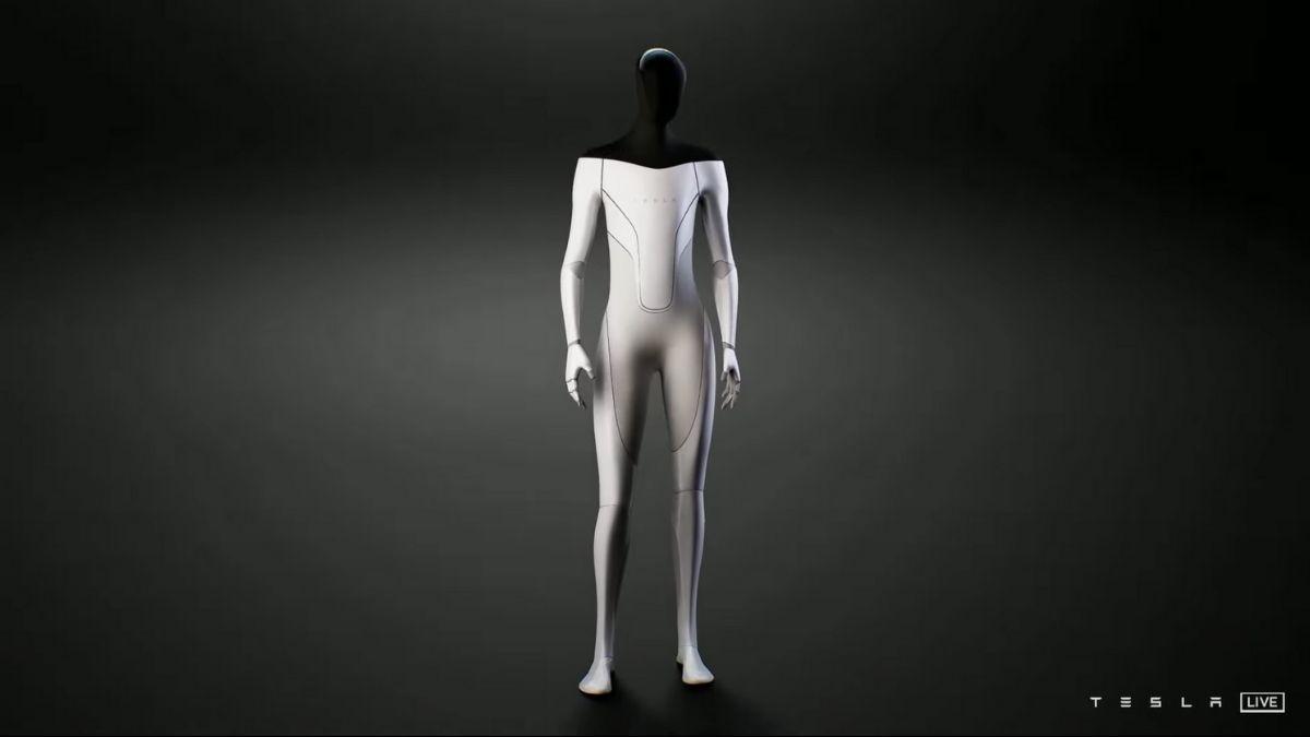 Tesla Bot, el prototipo de robot humanoide presentado por Elon Musk