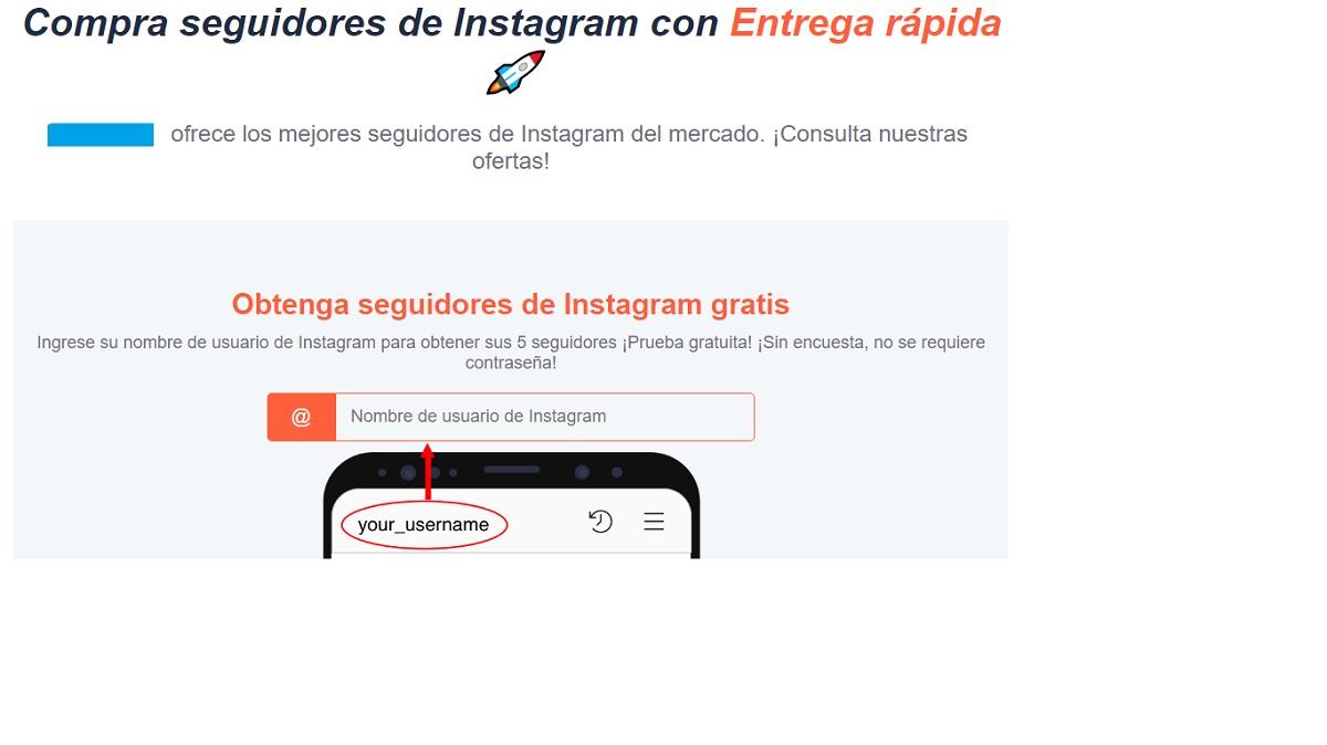 Compra de seguidores Instagram