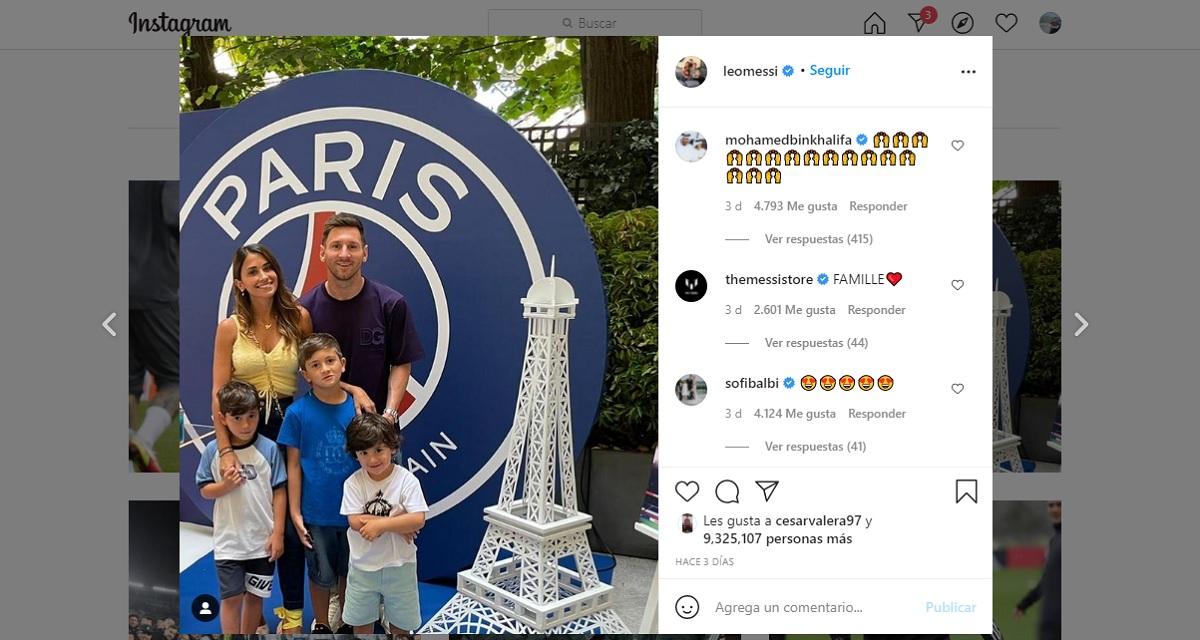 Leo Messi en Instagram
