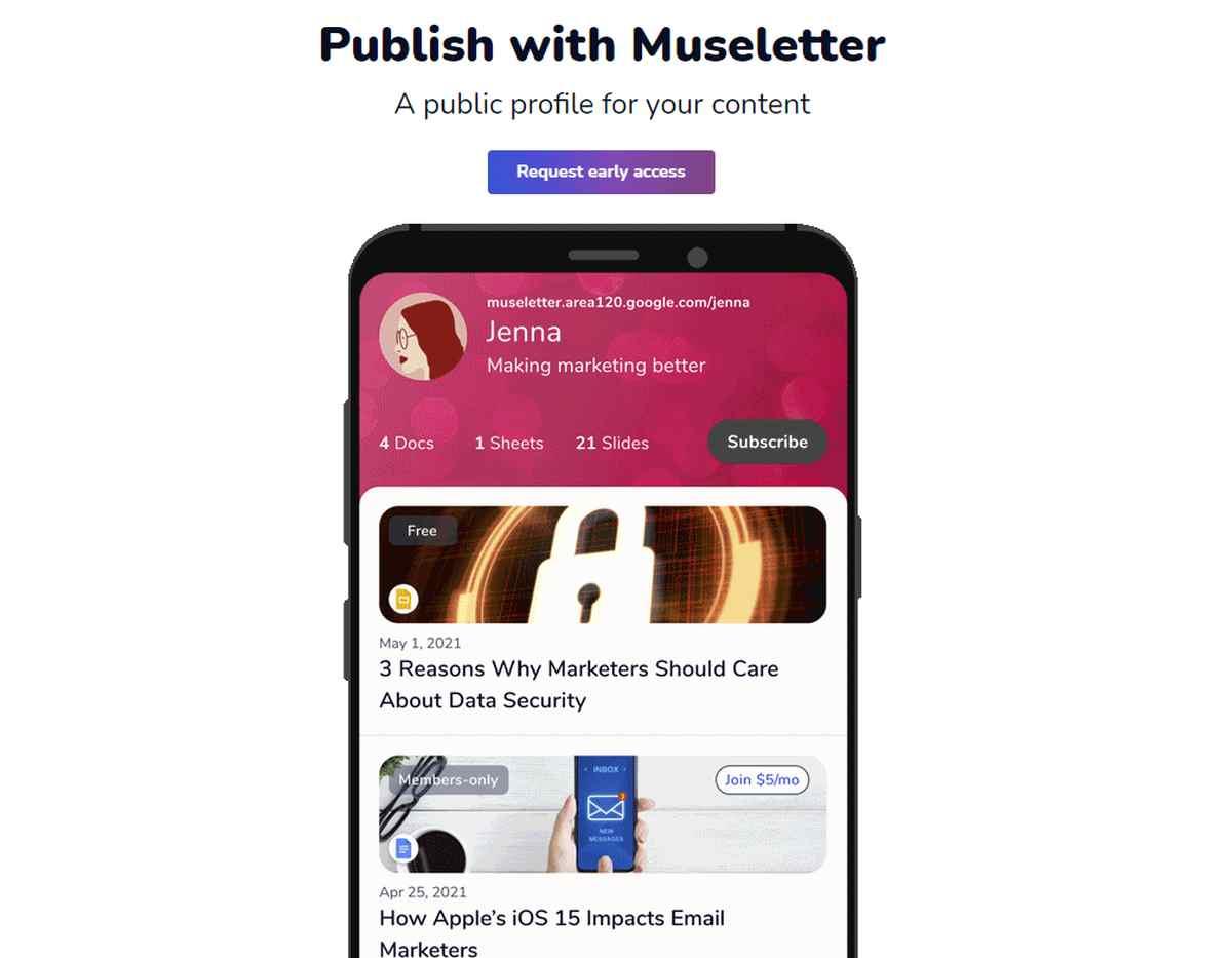 Lo que sabemos de Museletter, el servicio de boletines de Google en fase experimental